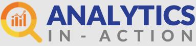 Analytics in action logo on gray